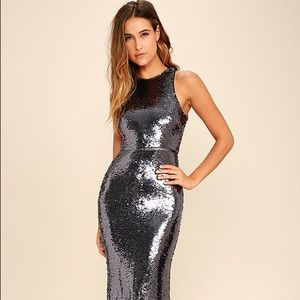 NWTO Lulus Sequin Maxi Dress